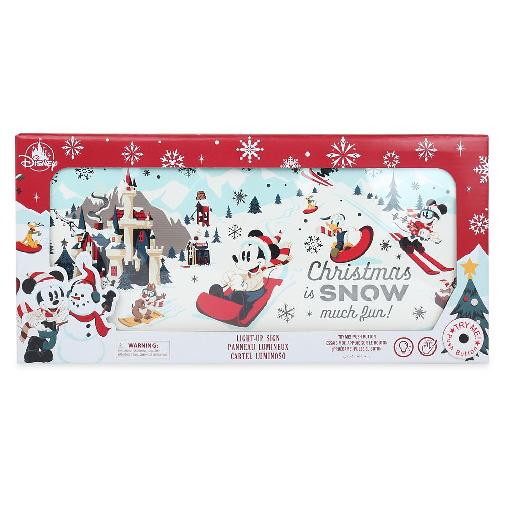 Mickey Mouse and Friends Holiday Light-Up Sign