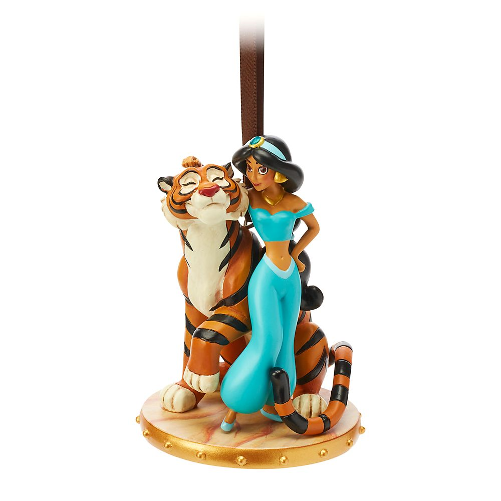 Jasmine and Rajah Sketchbook Ornament – Aladdin