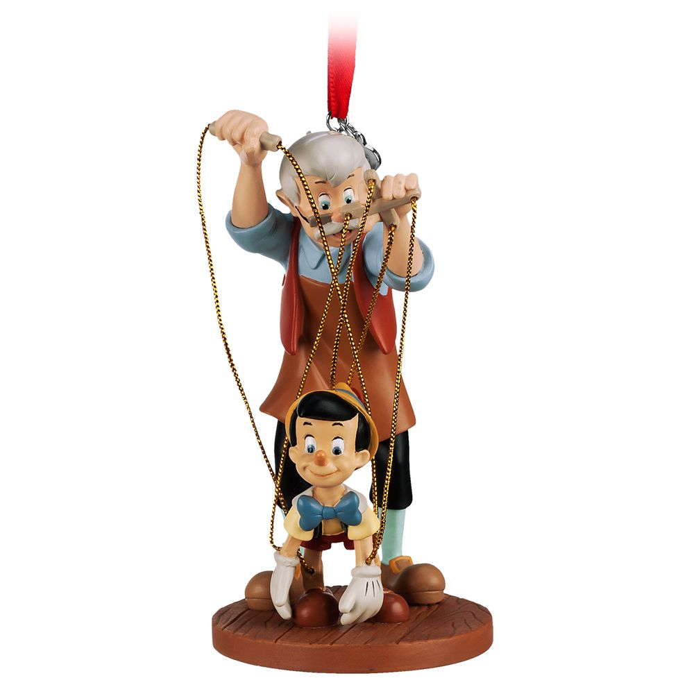Pinocchio and Geppetto Sketchbook Ornament