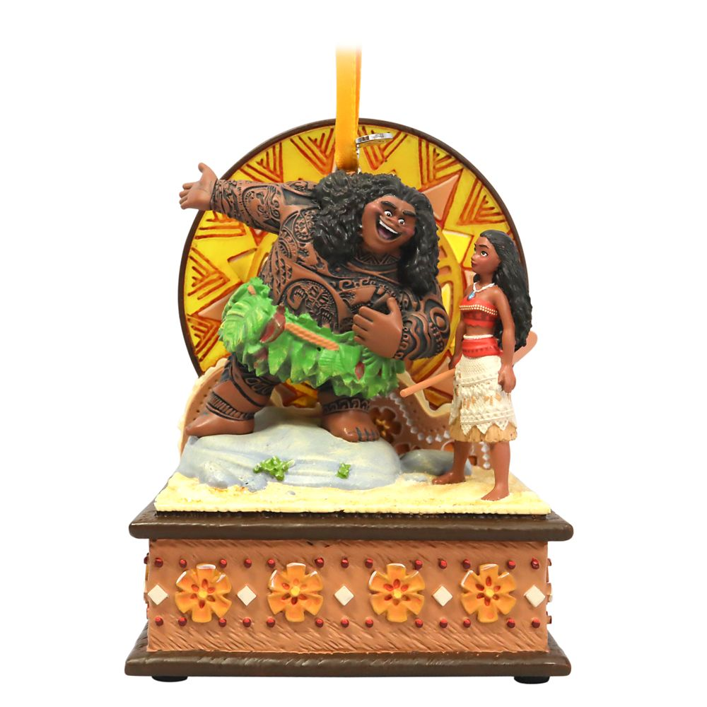 Moana and Maui Singing Living Magic Sketchbook Ornament