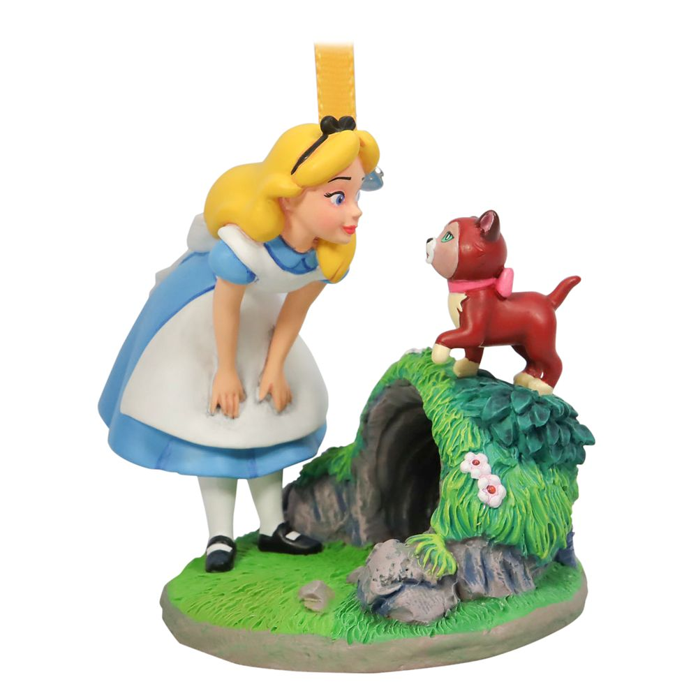 Alice and Dinah Sketchbook Ornament – Alice in Wonderland