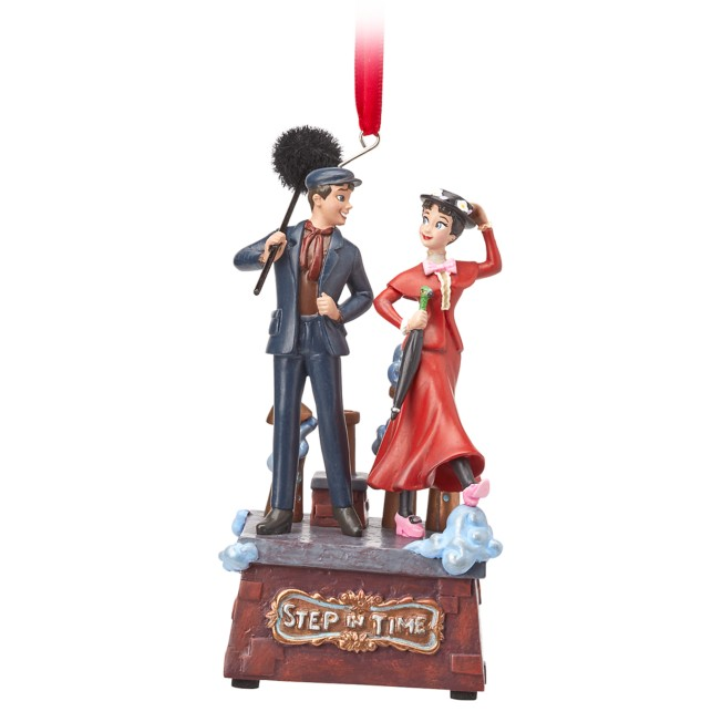 Mary Poppins and Bert Singing Living Magic Sketchbook Ornament