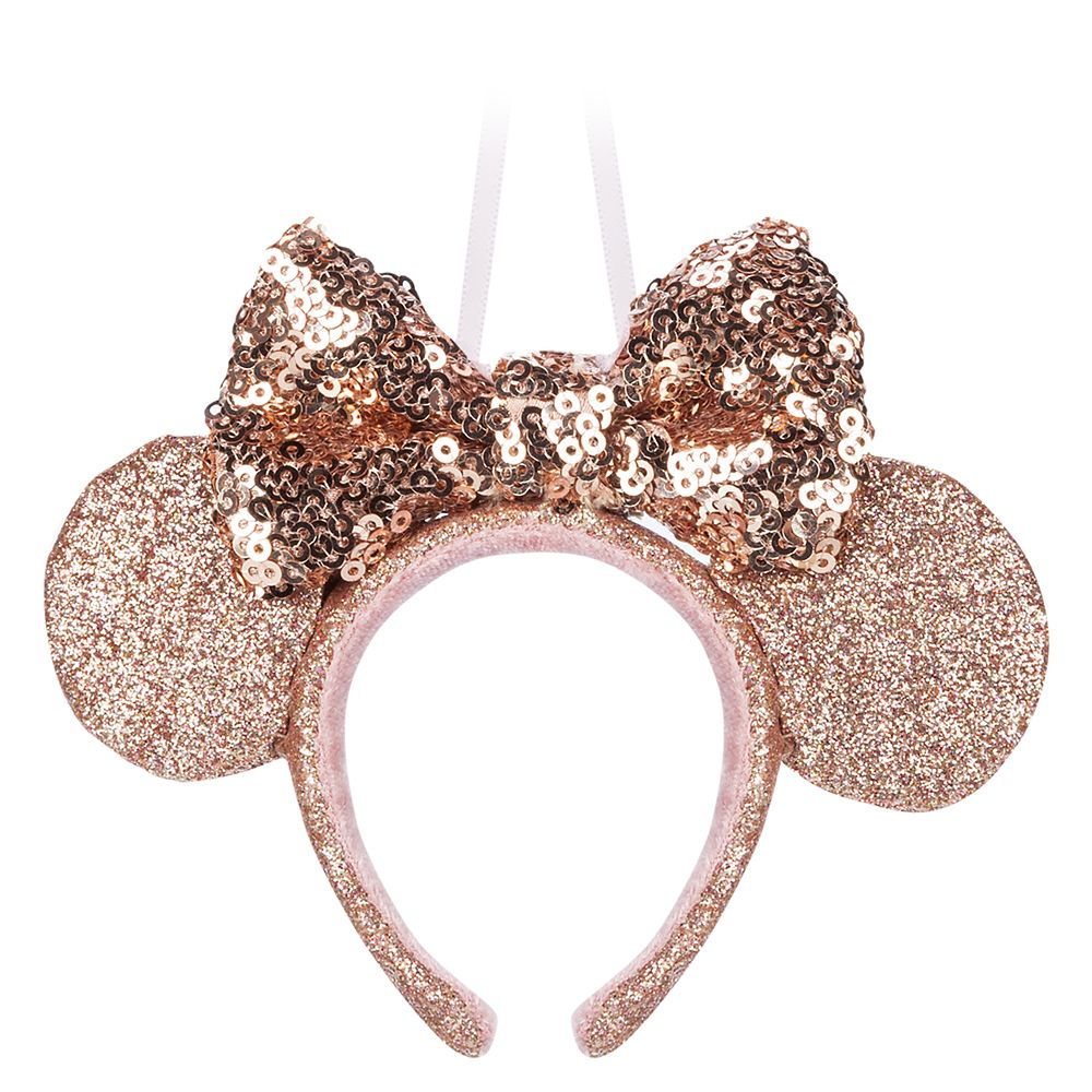 Minnie Mouse Ear Headband Sketchbook Ornament – Briar Rose Gold