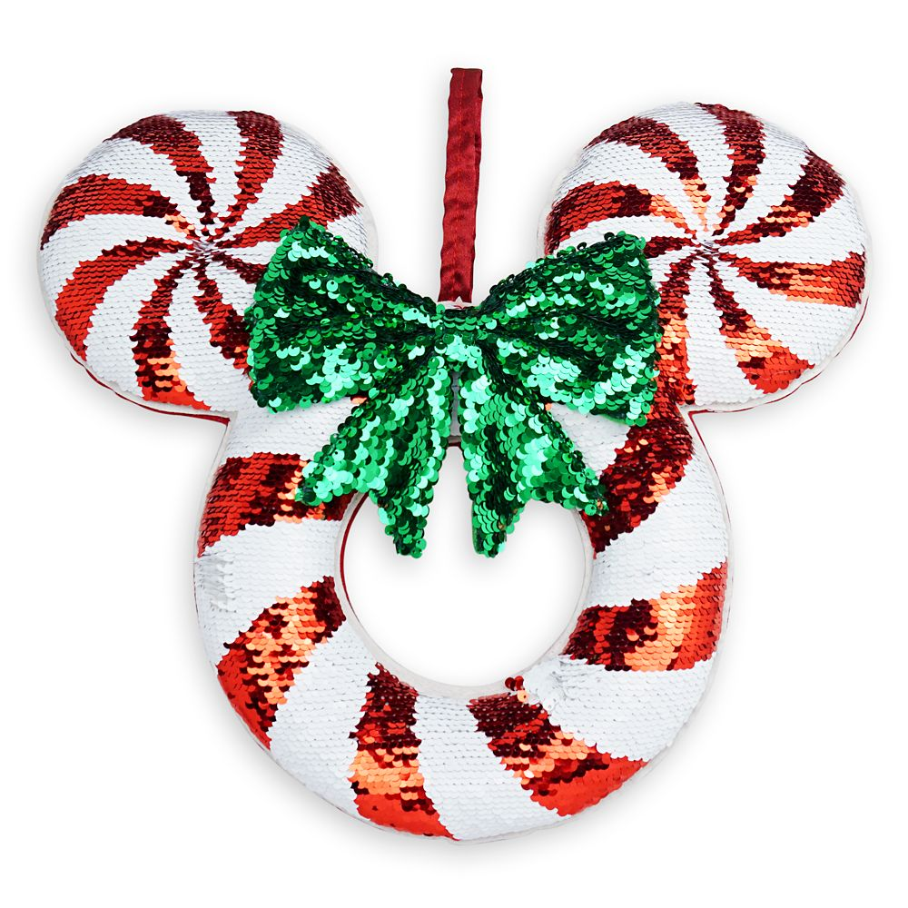 Mickey Mouse Icon Sequined Holiday Wreath Official shopDisney