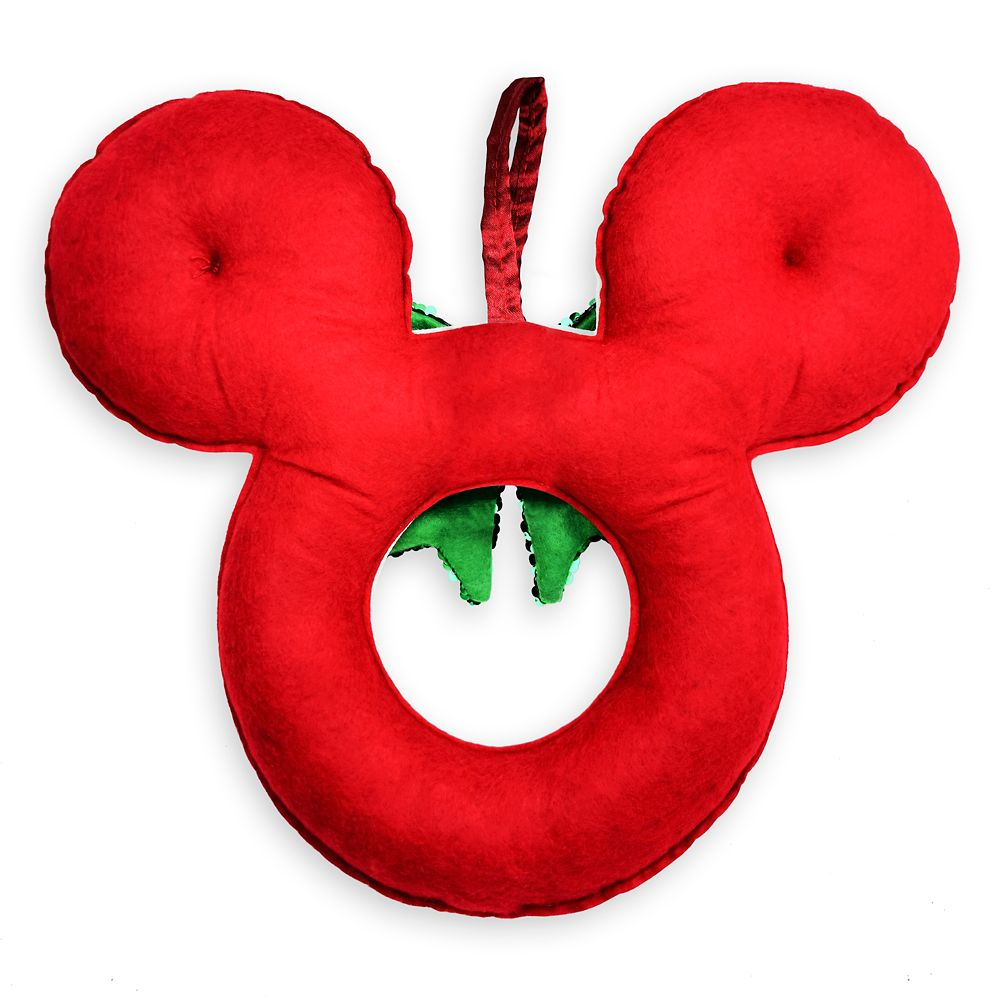 Mickey Mouse Icon Sequined Holiday Wreath