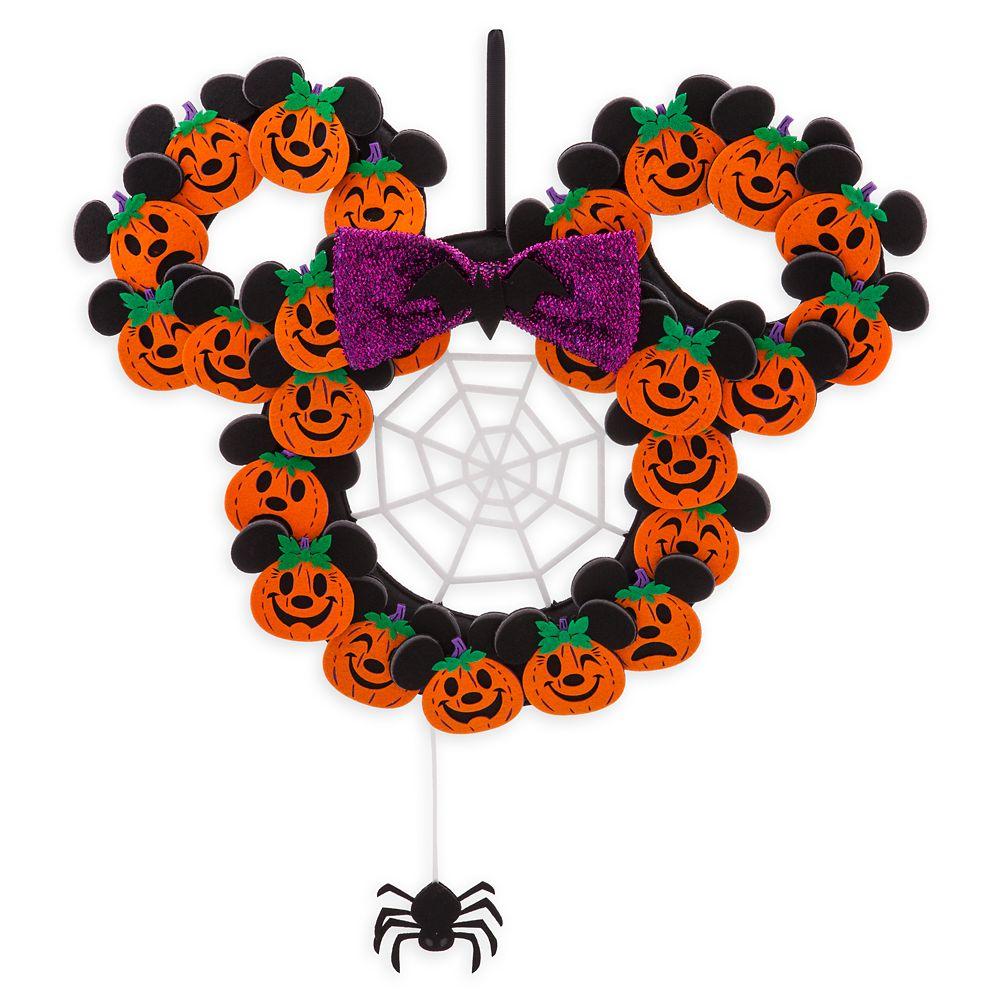 Minnie Mouse Pumpkin Halloween Wreath Official shopDisney