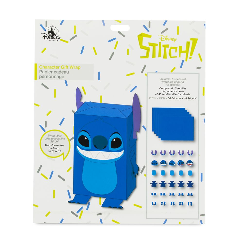 Stitch Gift Wrap Set