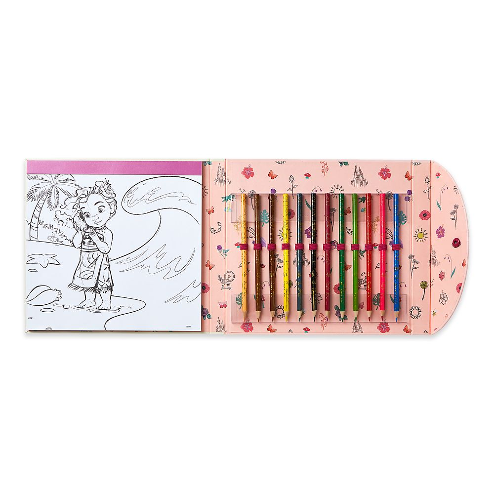 Disney Animators' Collection Coloring Pad and Colored Pencil Set
