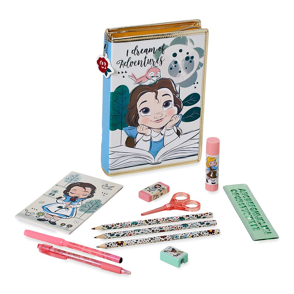 Disney Animators' Collection Belle Zip-Up Stationery Kit