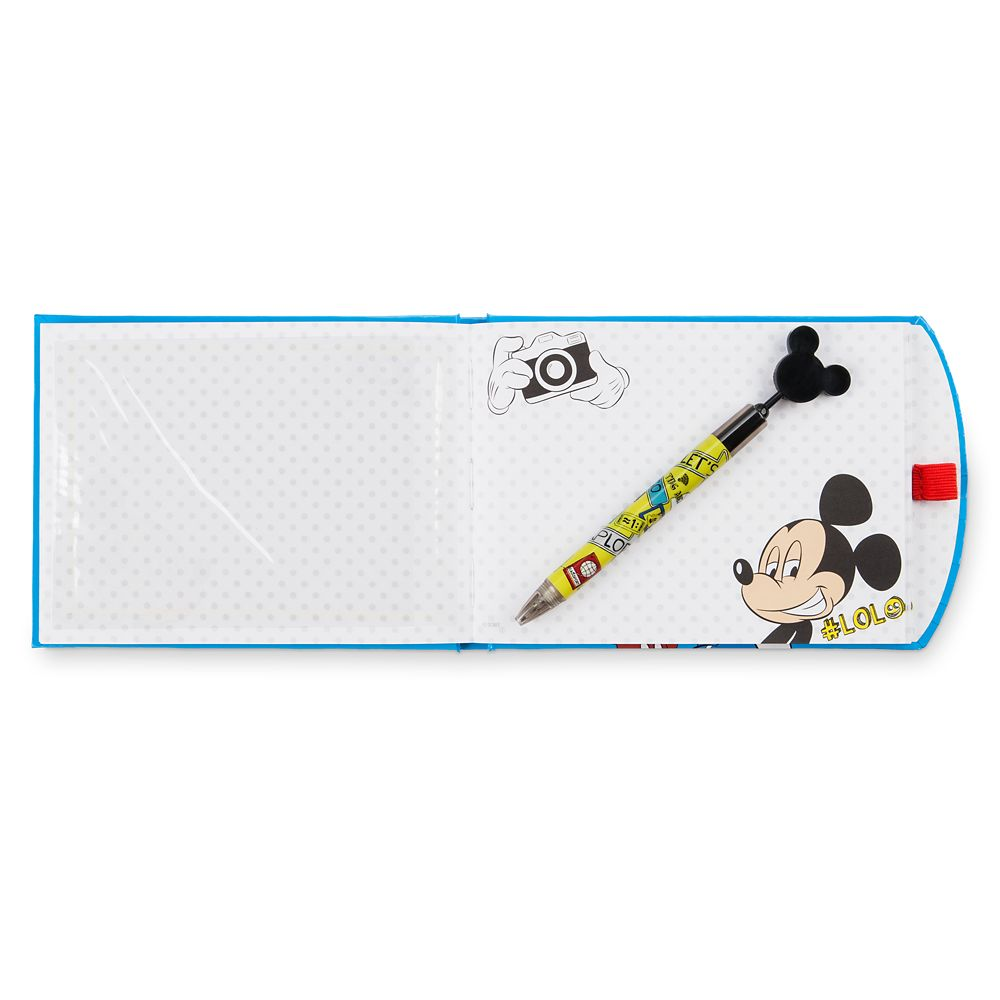 Mickey and Minnie Mouse and Donald Duck Autograph Book with Pen
