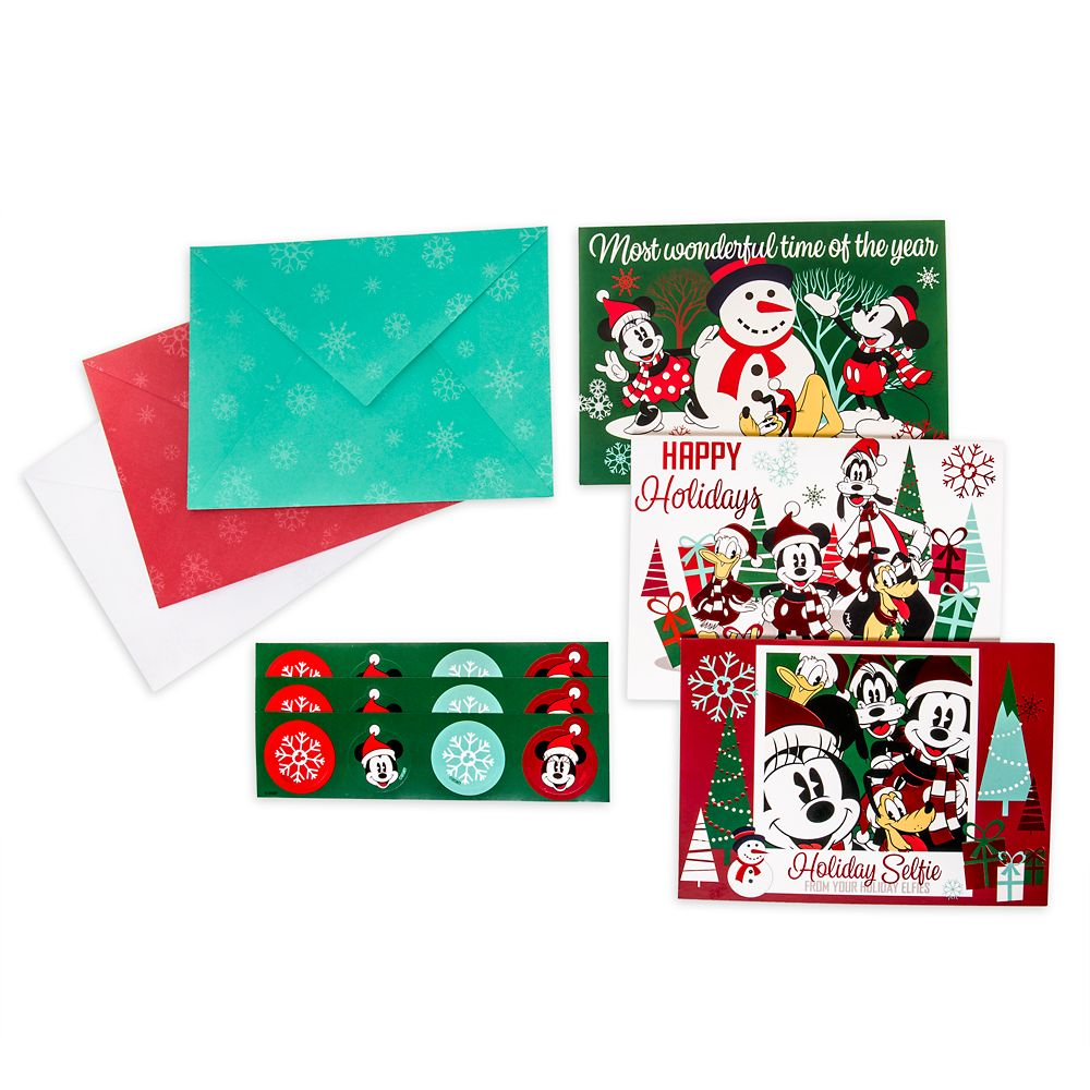 Mickey Mouse and Friends Holiday Card Set