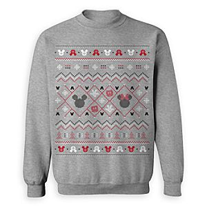 Mickey and Minnie Mouse Icon ''Ugly'' Holiday Sweatshirt for Adults - Limited Release