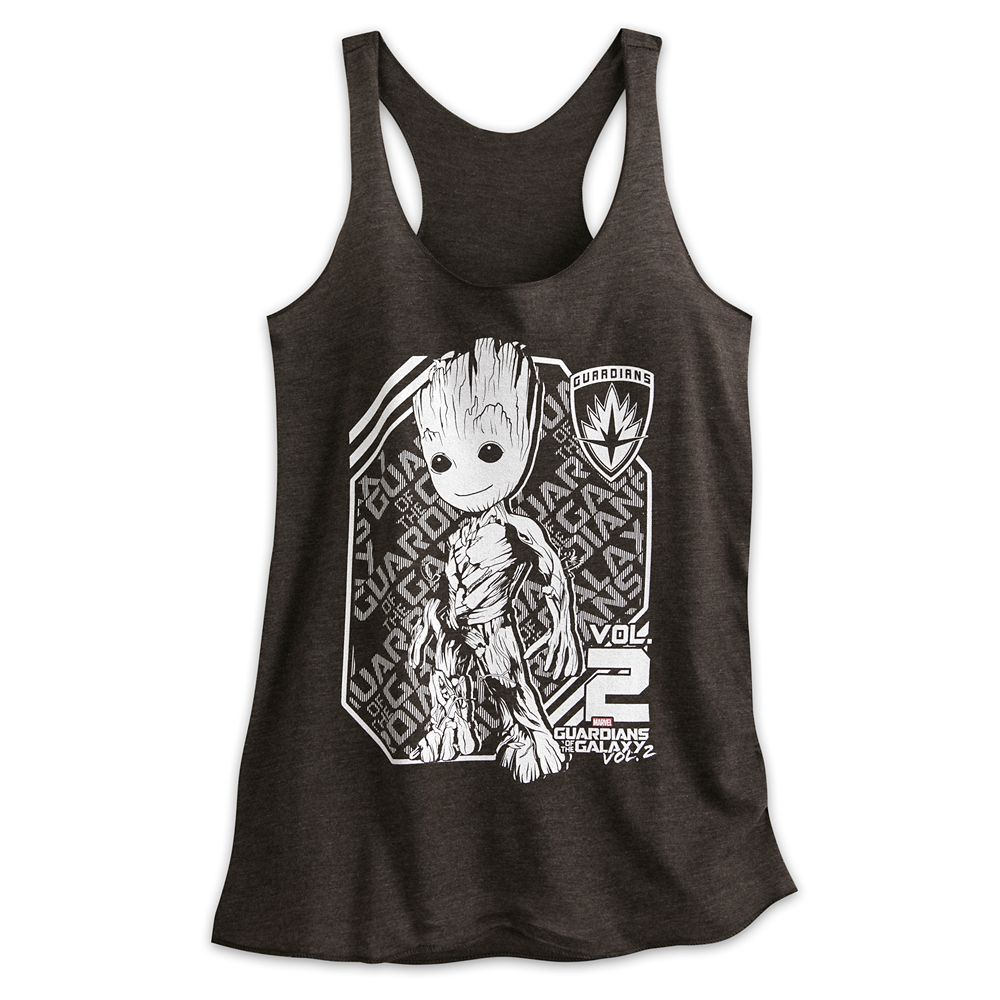 Groot Heathered Tank Tee for Women – Guardians of the Galaxy Vol. 2