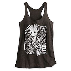 Groot Heathered Tank Tee for Women - Guardians of the Galaxy Vol. 2