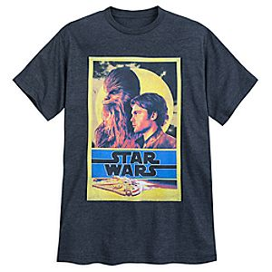 Han Solo and Chewbacca Poster T-Shirt for Adults - Solo: A Star Wars Story