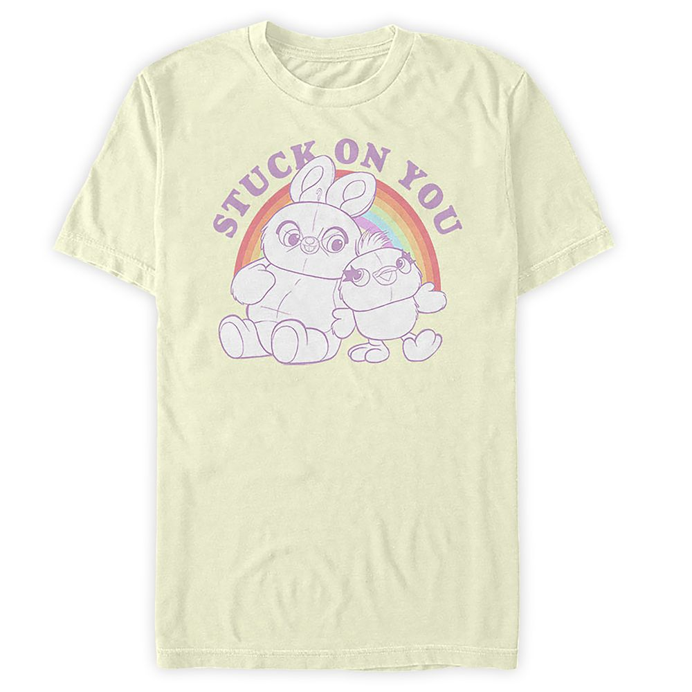 Ducky and Bunny ''Stuck on You'' T-Shirt for Adults  Toy Story 4 Official shopDisney