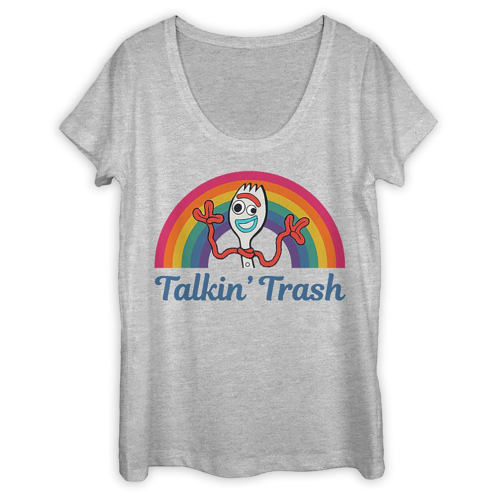 Forky Scoop Neck T-Shirt for Women – Toy Story 4