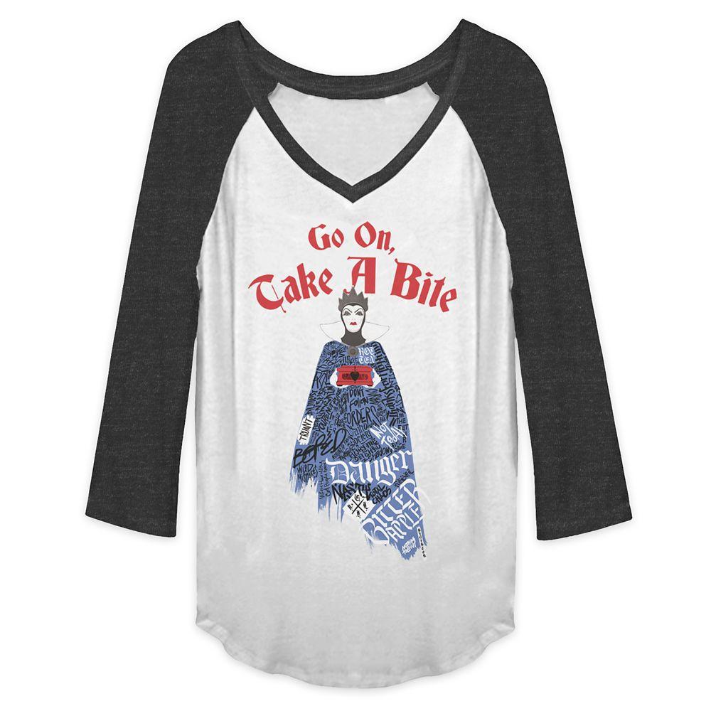 Evil Queen Raglan V-Neck T-Shirt for Women - Snow White and the Seven Dwarfs