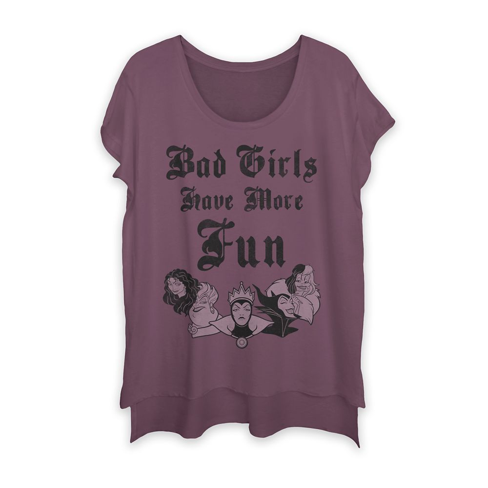 Disney Villains ''Bad Girls Have More Fun'' T-Shirt for Women