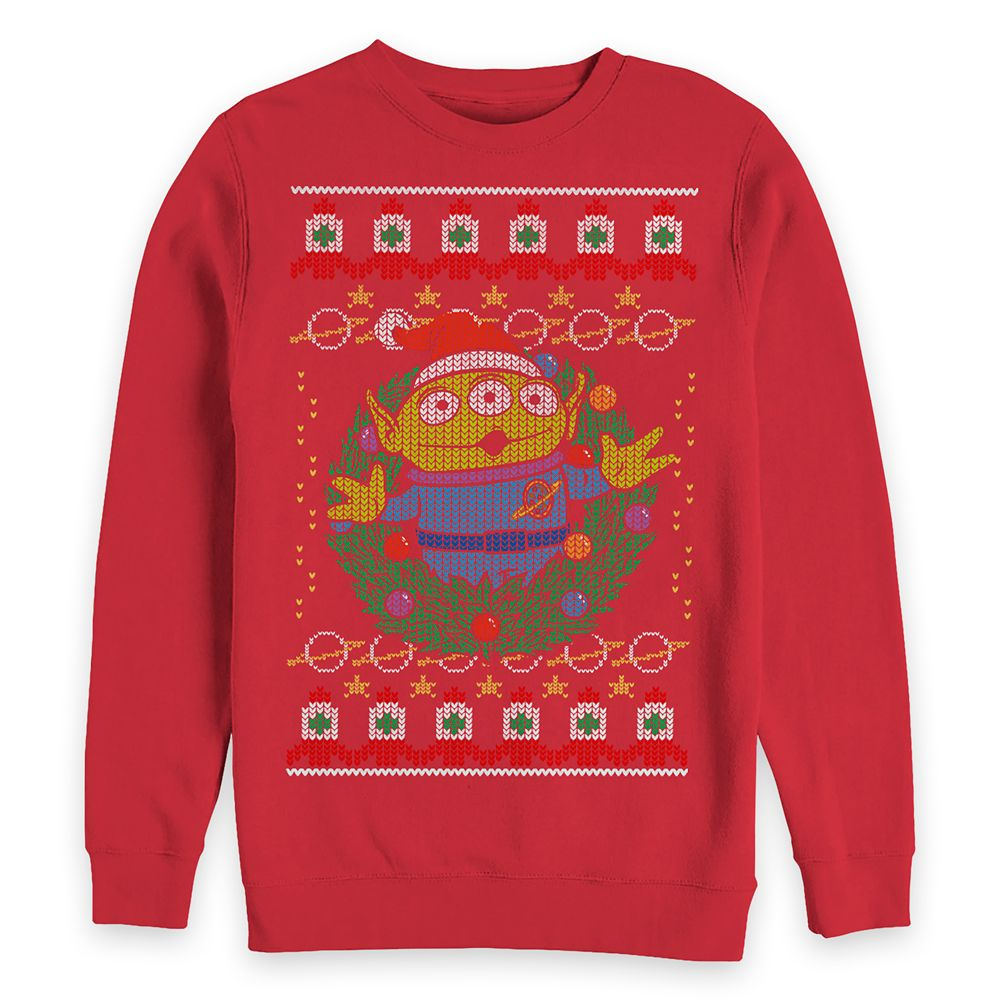 Toy Story Alien Holiday Pullover Sweatshirt for Adults
