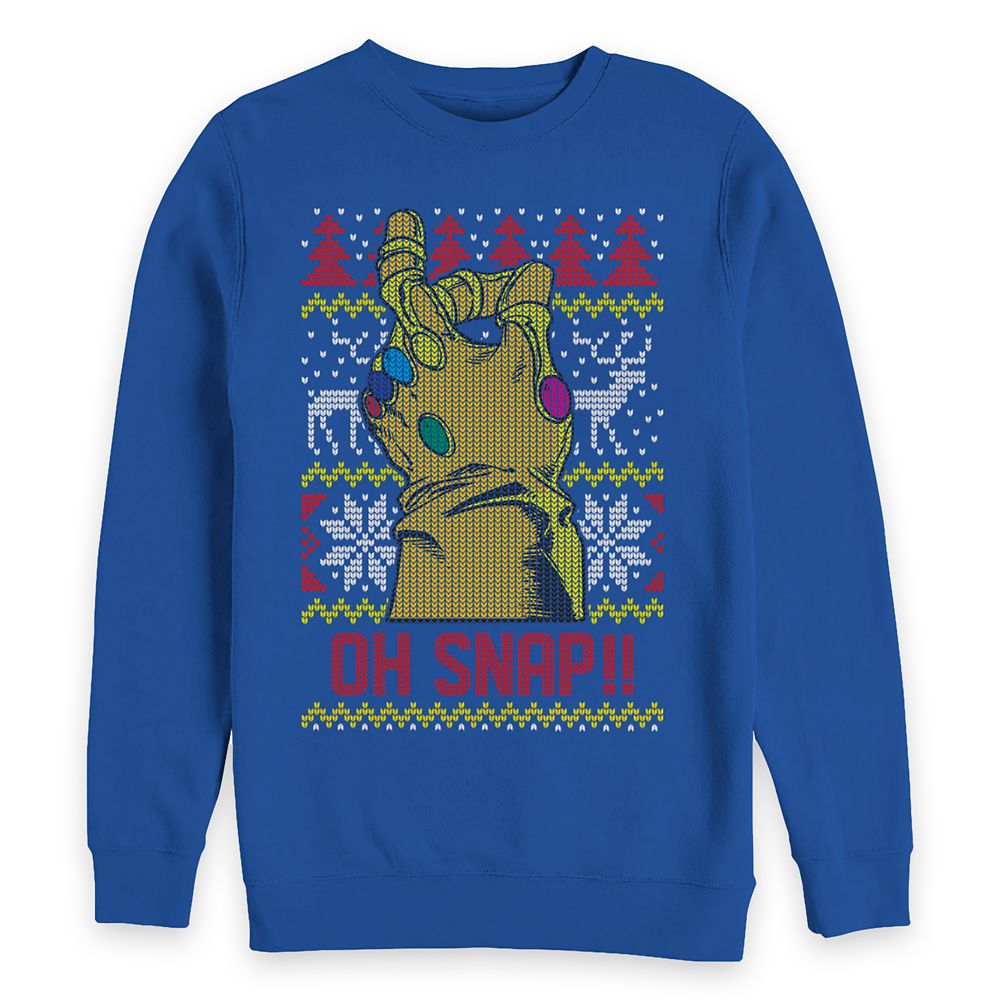 Thanos ''Oh Snap!!'' Holiday Sweatshirt for Adults