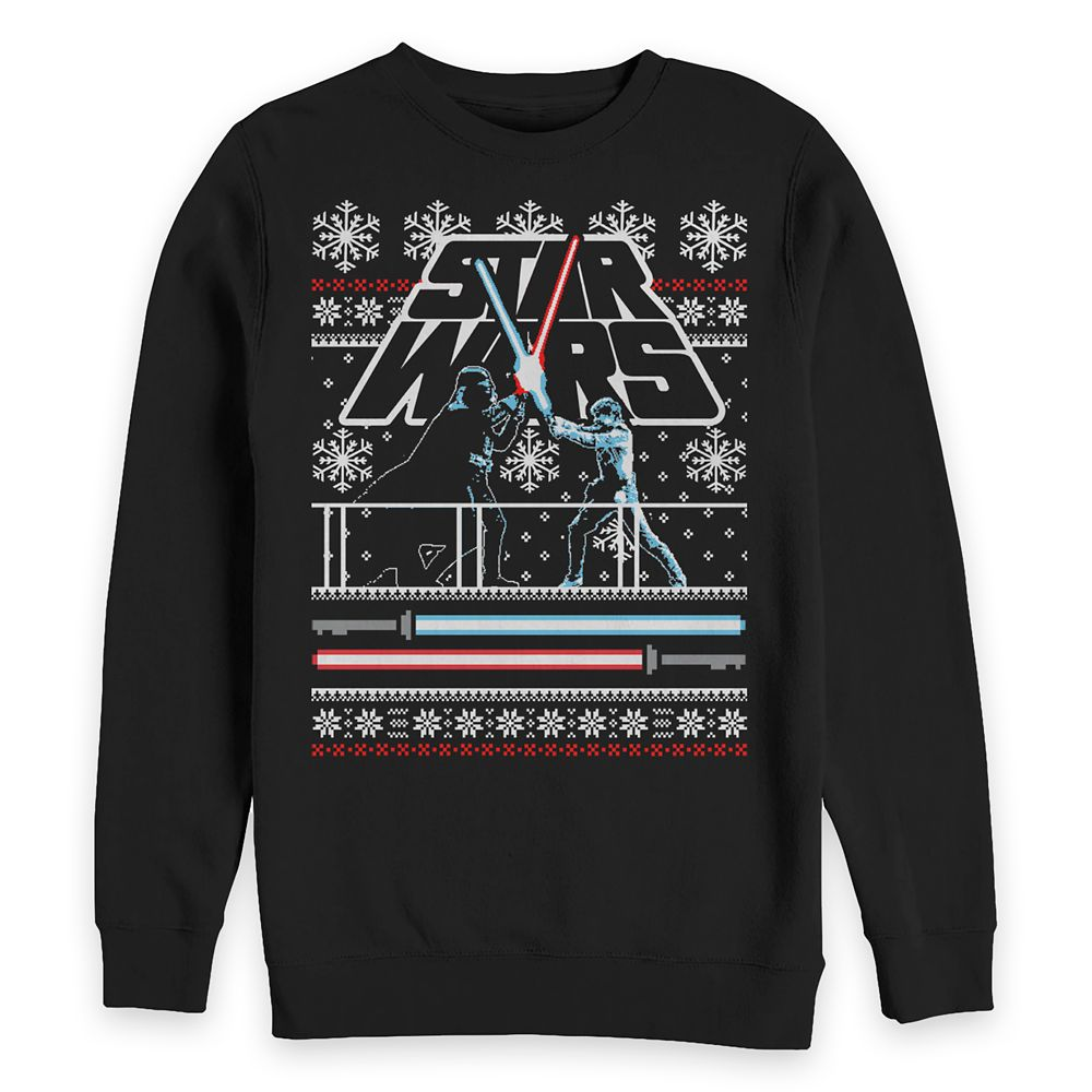 Luke Skywalker and Darth Vader Holiday Sweatshirt for Adults