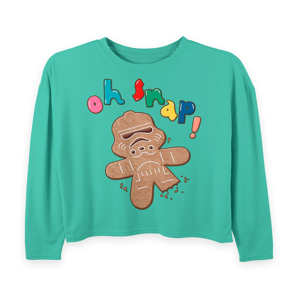 Stormtrooper Gingerbread Cookie Holiday Pullover Sweatshirt for Girls