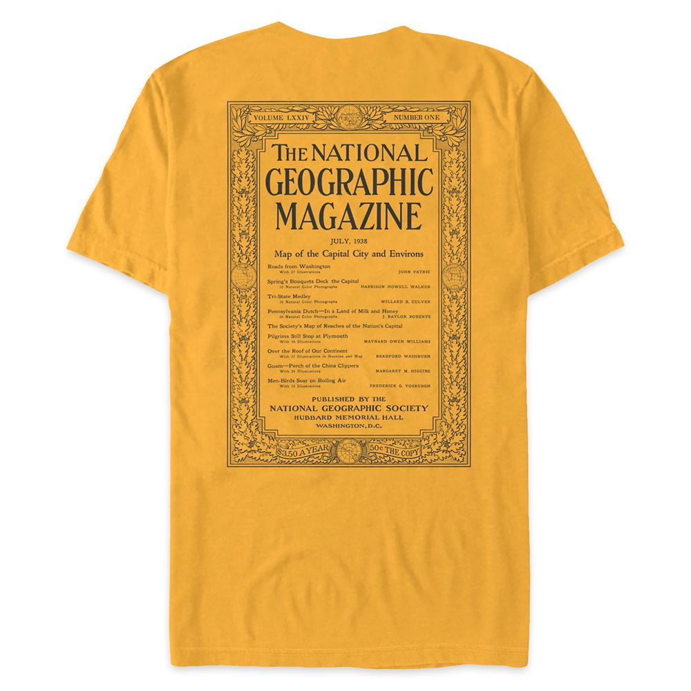 National Geographic Vintage Magazine Cover T-Shirt for Adults