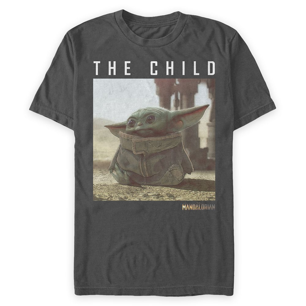 The Child  Star Wars: The Mandalorian Logo T-Shirt for Men  Dark Gray Official shopDisney