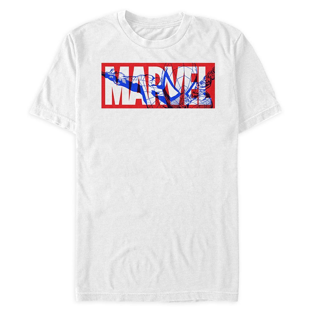 Marvel Logo with Spider-Man T-Shirt for Men