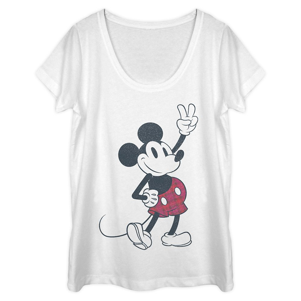 Mickey Mouse Scoop Neck T-Shirt for Women