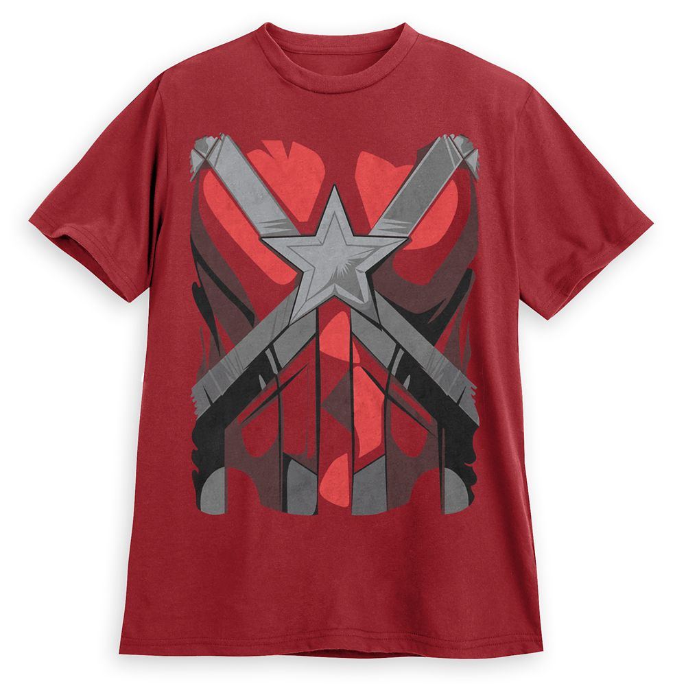 Red Guardian Costume T-Shirt for Men – Black Widow