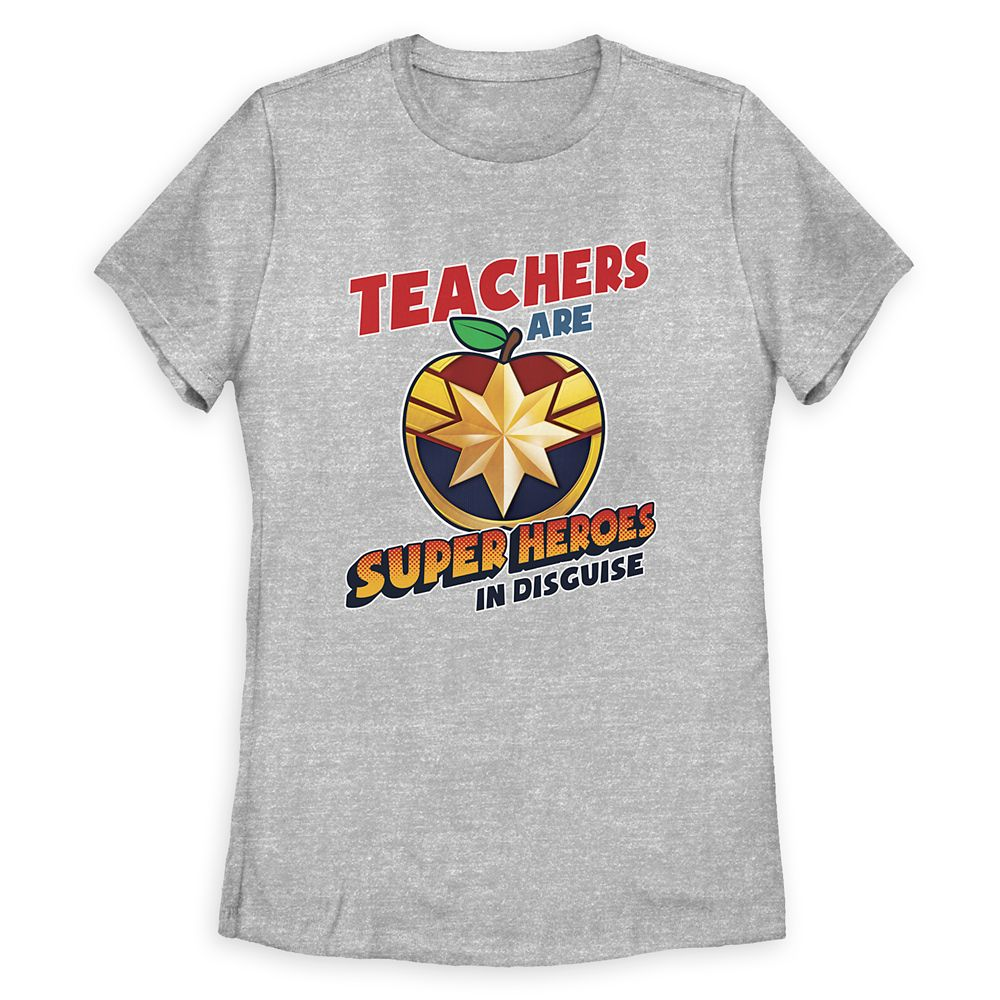 Captain Marvel Teachers T-Shirt for Women