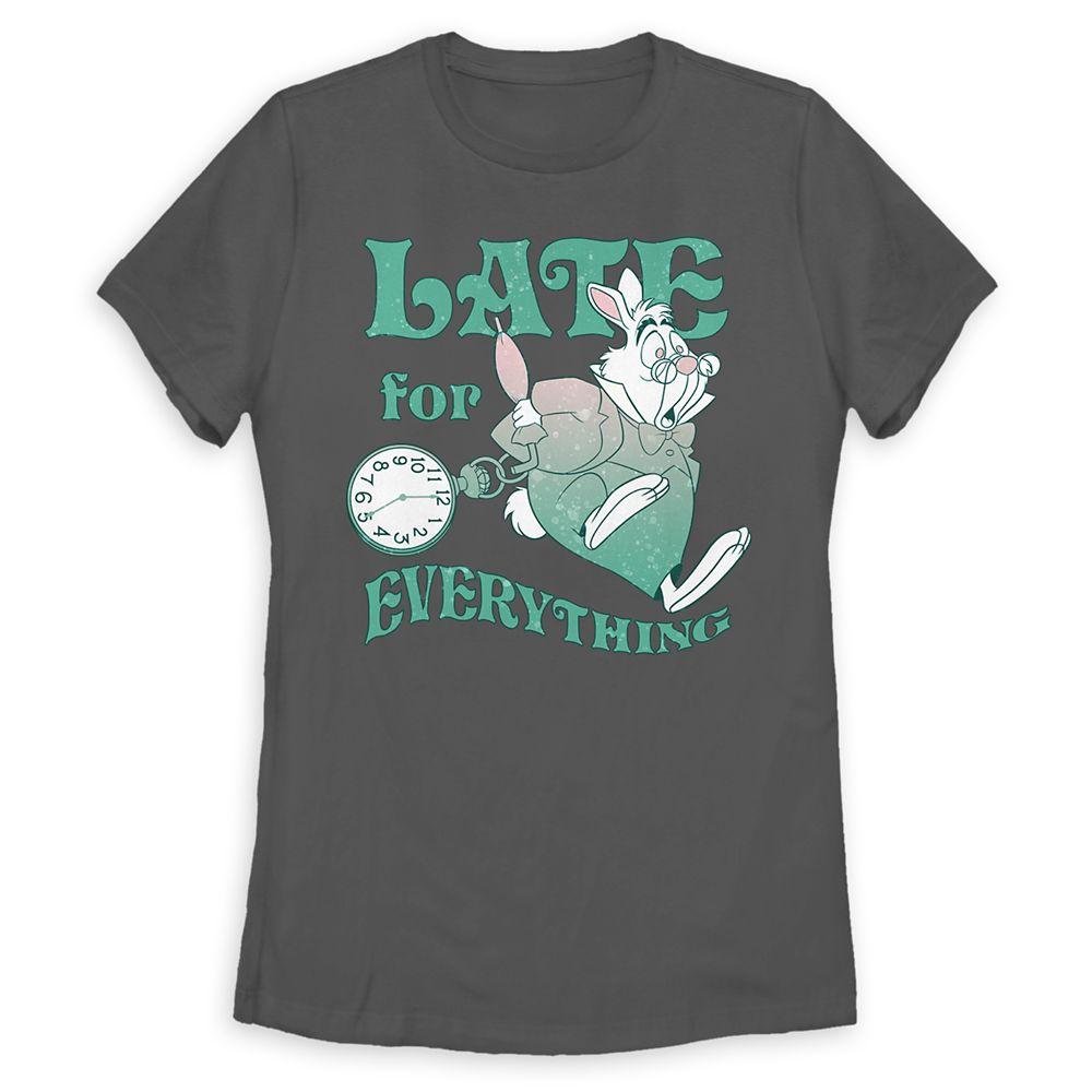 White Rabbit T-Shirt for Women – Alice in Wonderland