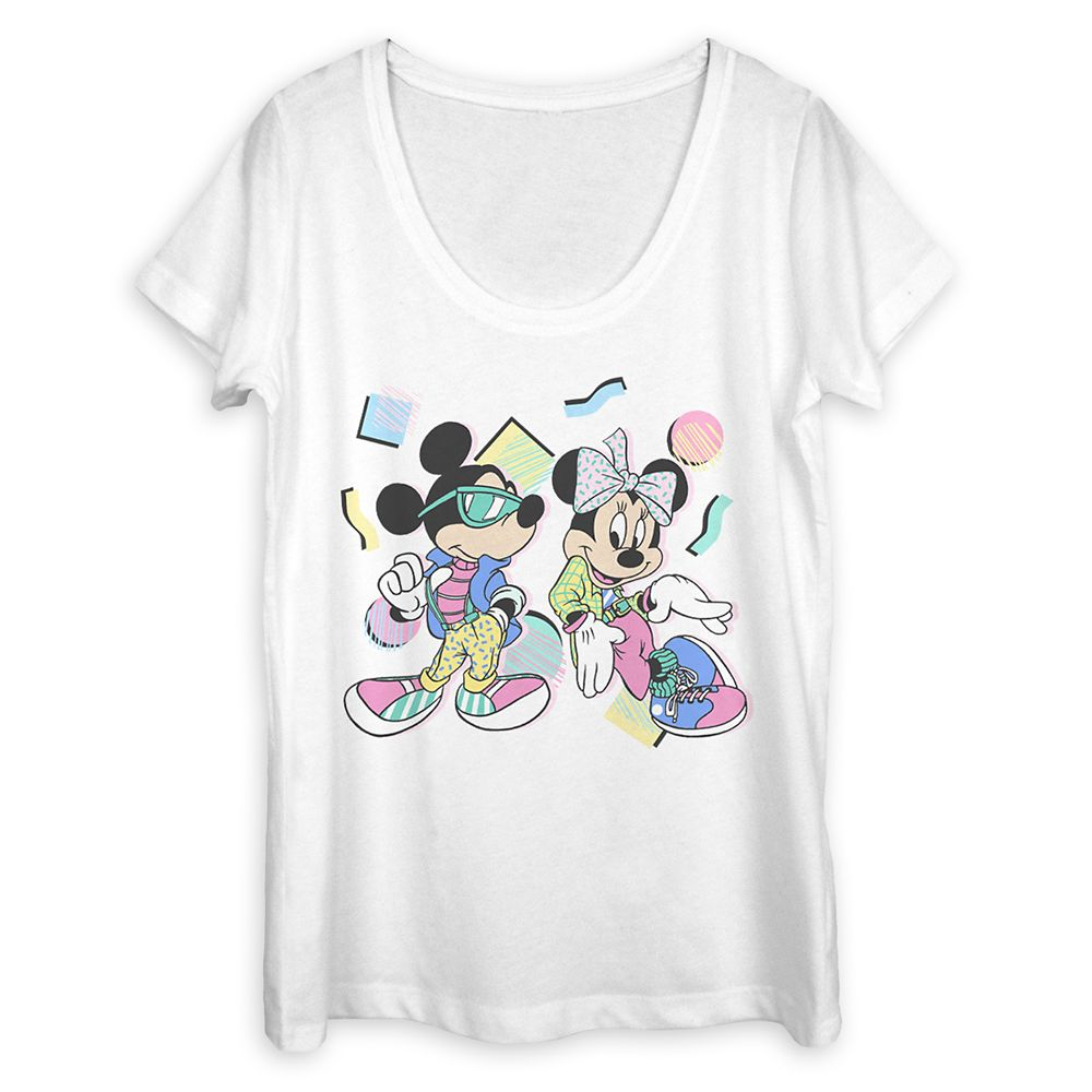 Mickey and Minnie Mouse Retro T-Shirt for Women