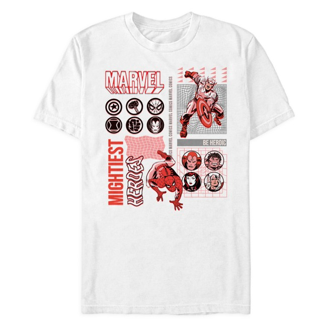 Marvel ''Mightiest Heroes'' Collage T-Shirt for Adults