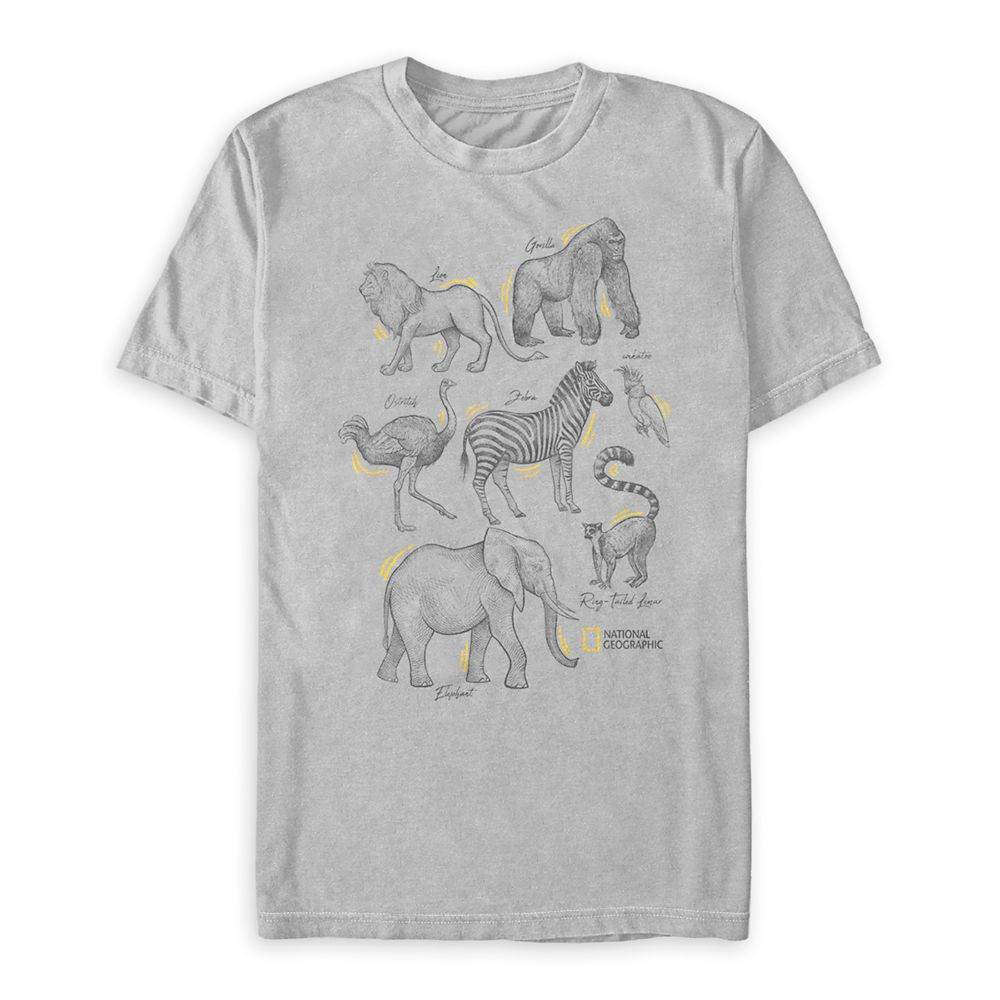National Geographic Animal Sketch T-Shirt for Adults
