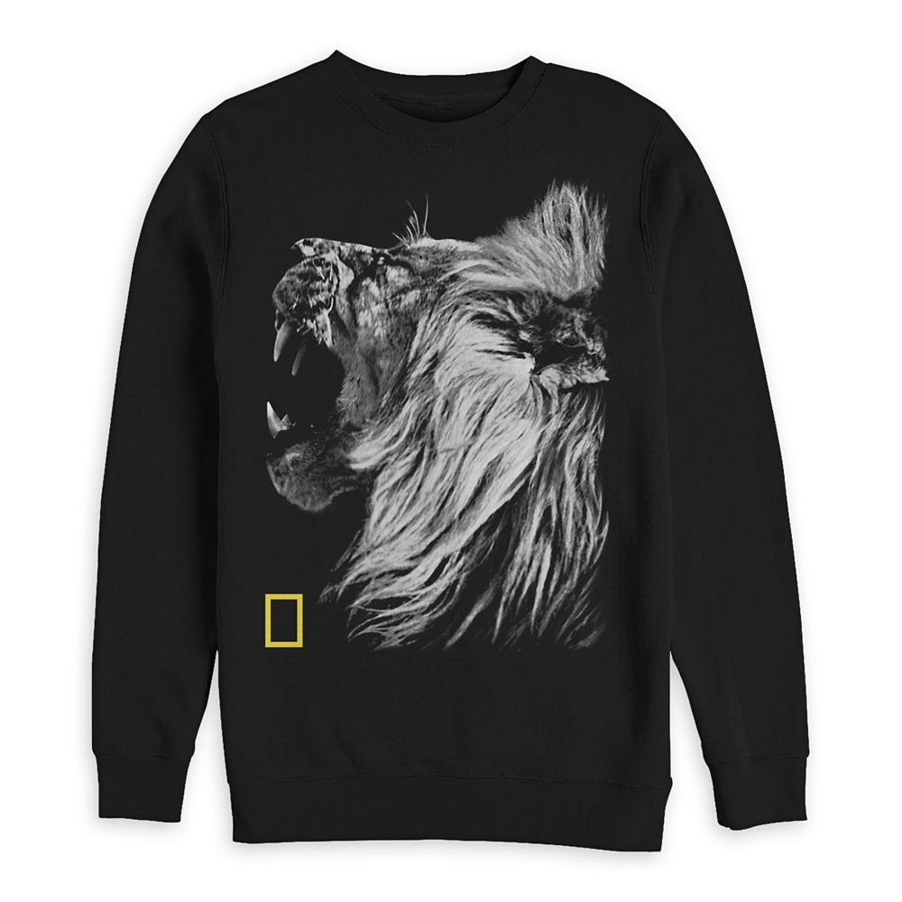 National Geographic Lion Sweatshirt for Adults