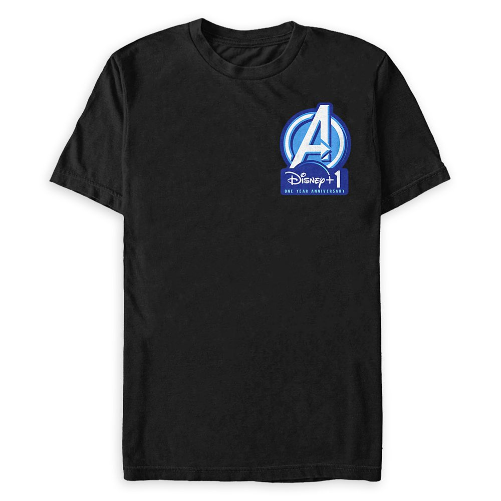 Marvel's Avengers Disney+ 1 One Year Anniversary T-Shirt for Adults
