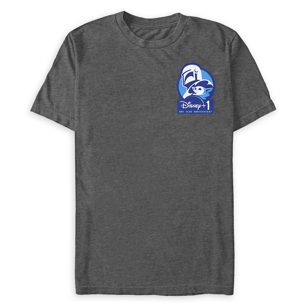 Star Wars: The Mandalorian Disney+ 1 One Year Anniversary T-Shirt for Adults