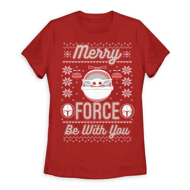 The Child ''Merry Force Be With You'' T-Shirt for Women
