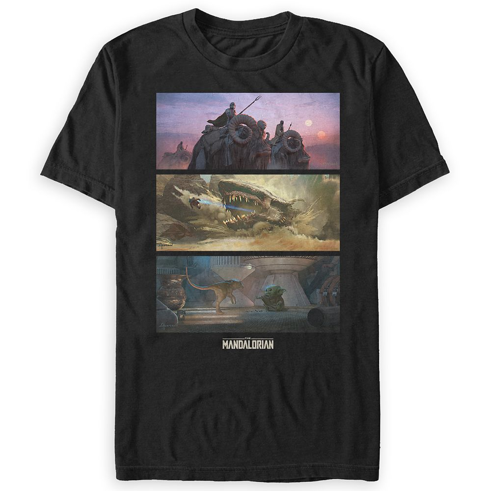Star Wars: The Mandalorian Season 2 T-Shirt for Adults – Concept Art – Limited Release