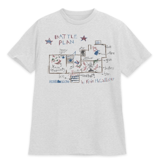 Kevin McCallister Battle Plan T-Shirt for Adults – Home Alone