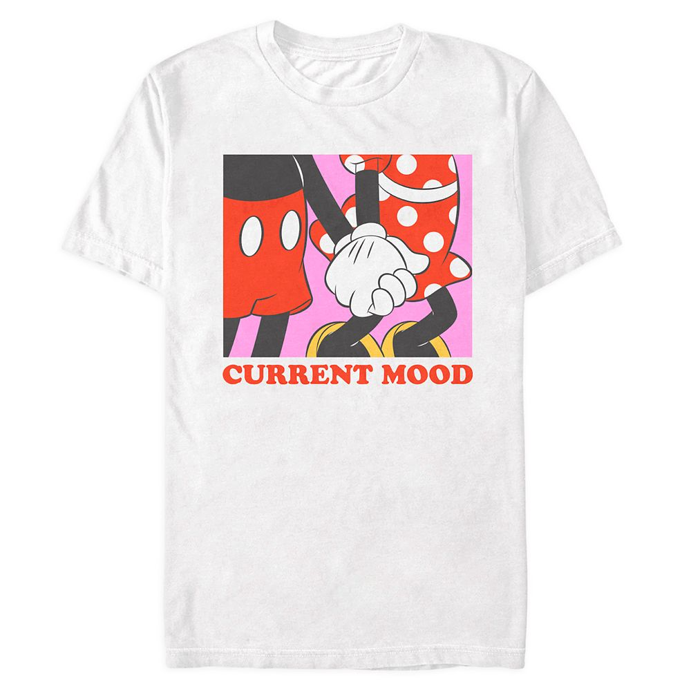 Mickey and Minnie Mouse ''Current Mood'' T-Shirt for Adults