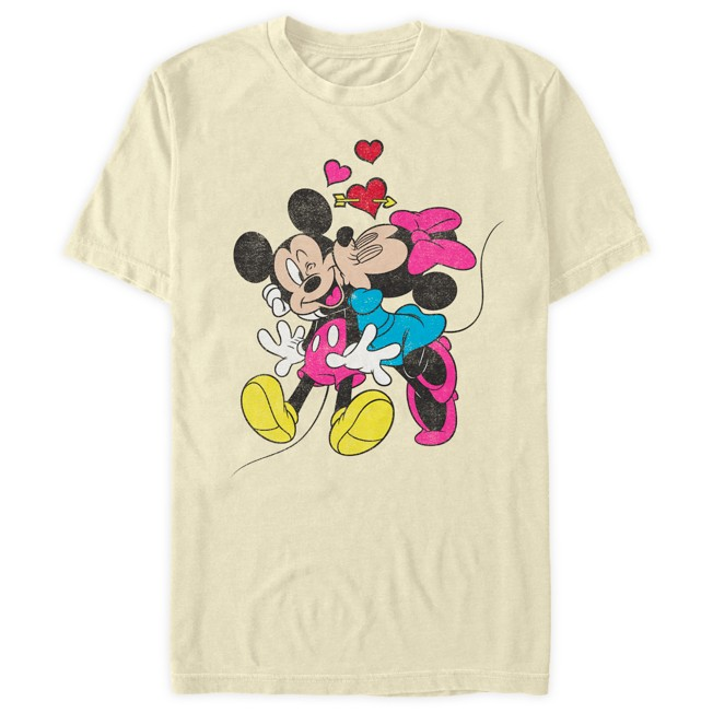 Mickey and Minnie Mouse Heart T-Shirt for Adults