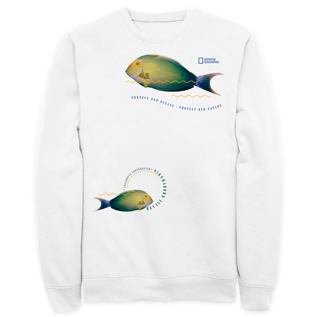 National Geographic ''Protect Our Oceans'' Pullover Sweatshirt for Adults