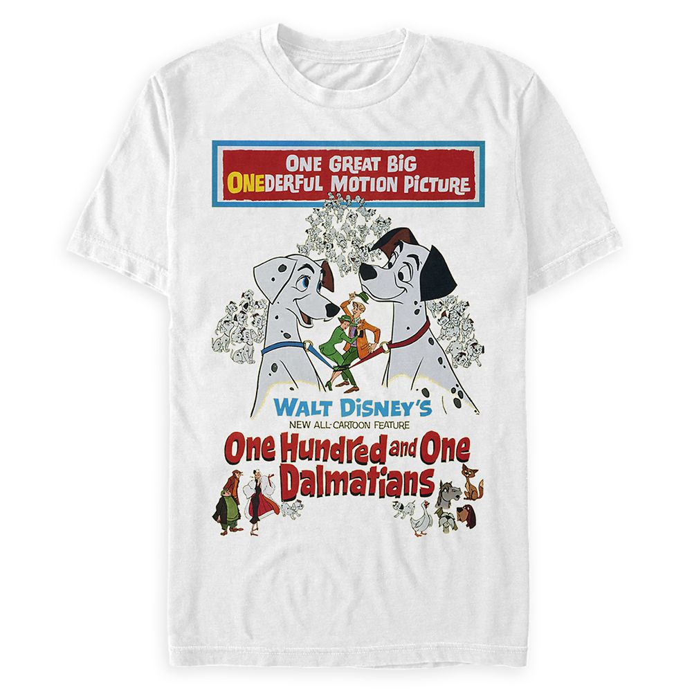 101 Dalmatians Movie Poster T-Shirt for Adults Official shopDisney