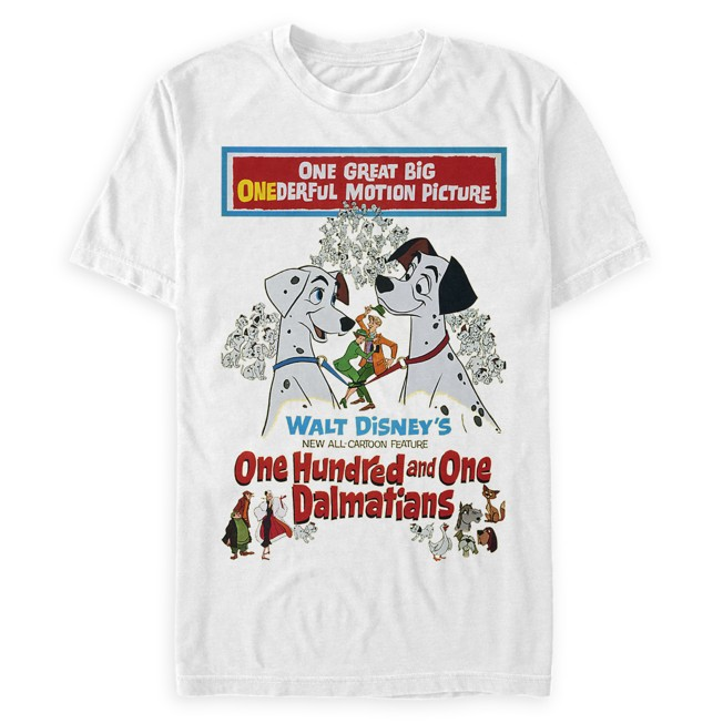 101 Dalmatians Movie Poster T-Shirt for Adults