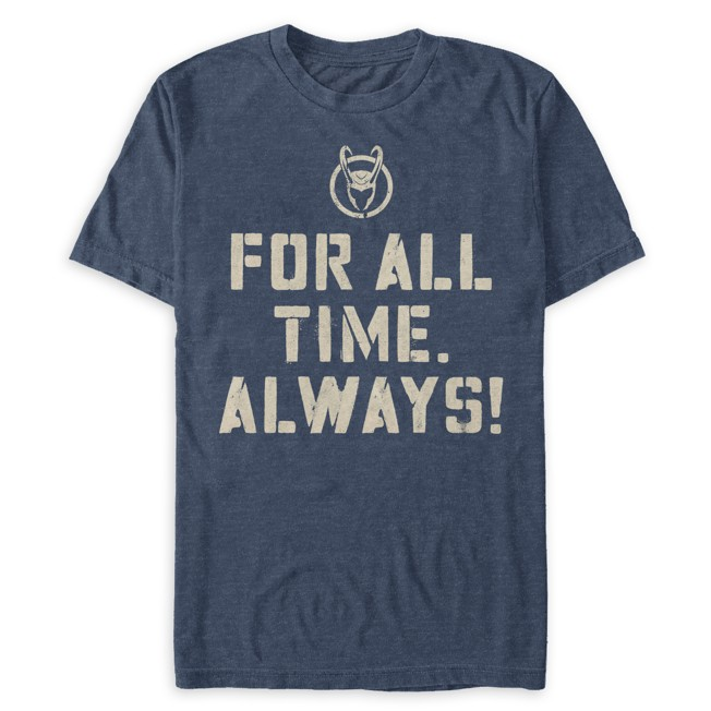 Loki Helmet ''For All Time. Always!'' T-Shirt for Adults