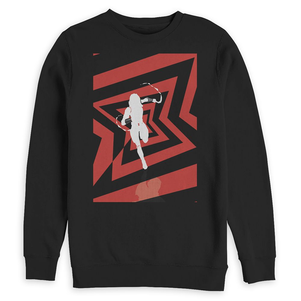 Black Widow Long Sleeve Pullover Sweatshirt for Adults